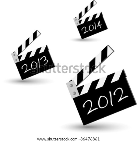 blackboard series for new 2012 year eps10 - stock vector