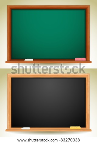 blackboards - stock vector