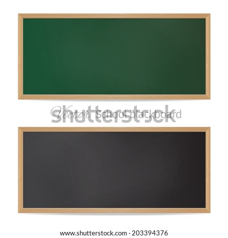 Blackboards. Black and green - stock vector