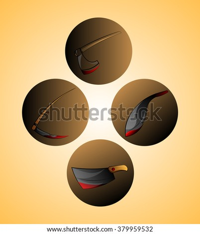 Blade instruments - stock vector