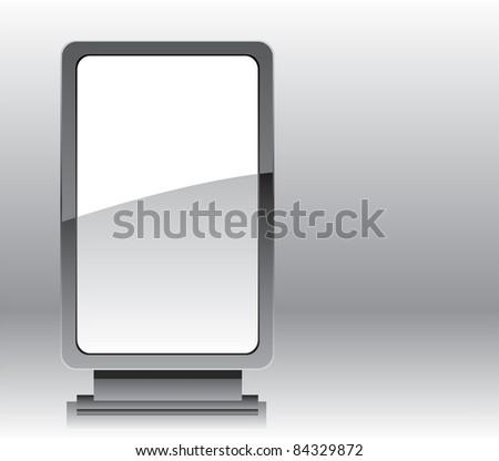 Blank advertising billboard or roll up display vector illustration - stock vector