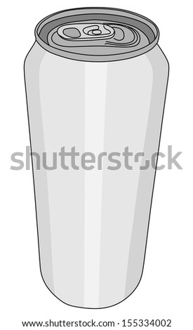 Blank aluminum  can isolated on white background, vector illustration