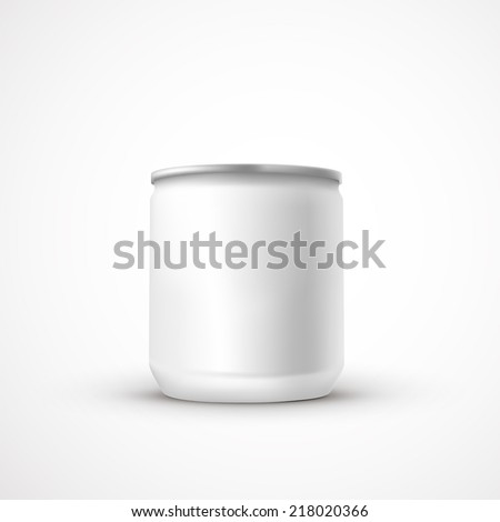 blank aluminum can template isolated over white background - stock vector