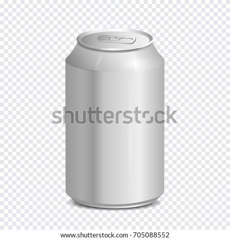 blank aluminum soda can on transparent stock vector royalty free
