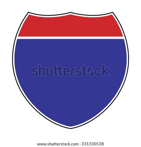 blank american interstate highway sign vector stock vector 331330538 rh shutterstock com state highway sign vector highway road sign vector