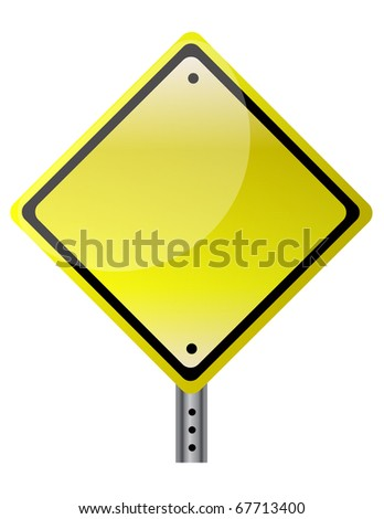 Blank and isolated traffic sign. vector file also available. / Isolated traffic sign - stock vector