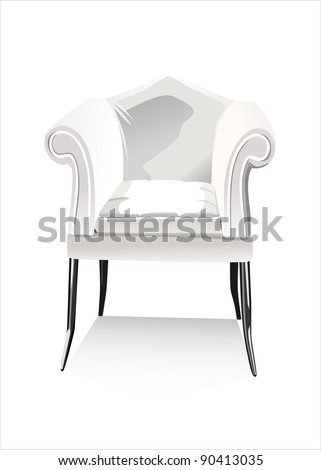 blank armchair over the white - stock vector