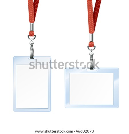blank badge for id card - stock vector