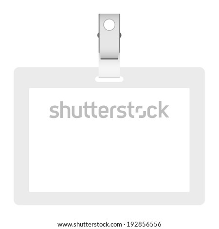 Blank badge, vector illustration - stock vector