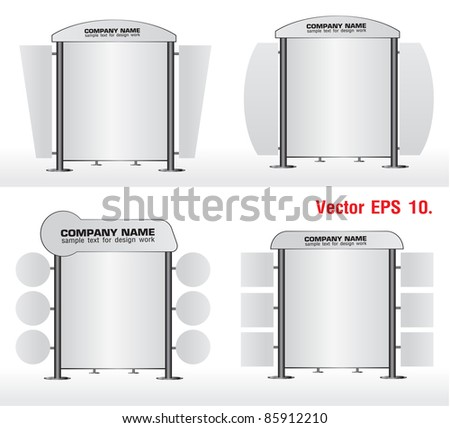 Blank banner display stands advertising. Vector template for design work - stock vector