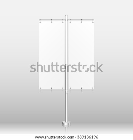 Blank Banner Flag Can Be Used For Your Advertising. illustration - stock vector