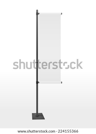blank banner flag isolated on white background - stock vector
