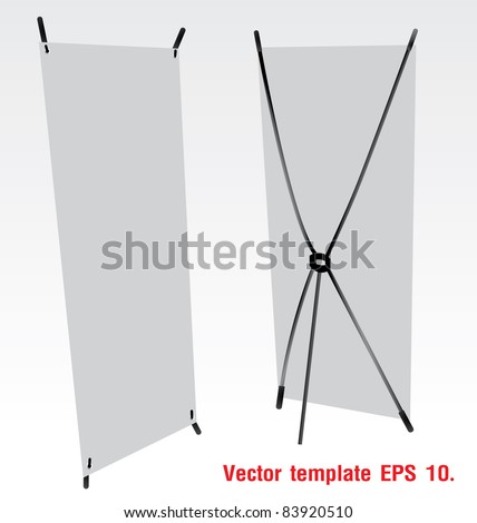 Blank banner X-Stands. Vector template for design work - stock vector