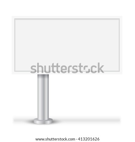Blank big billboard. Layout for advertisement and design. Isolated vector illustration on white background. - stock vector