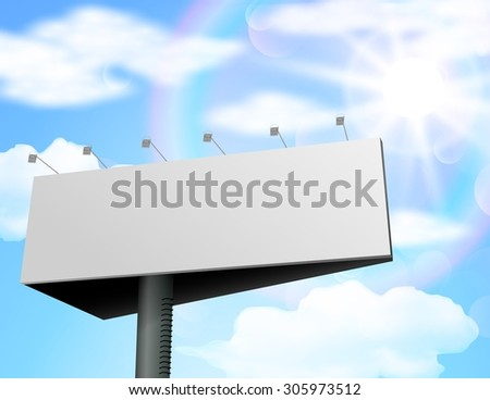 Blank billboard for new advertisement. vector - stock vector