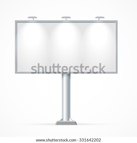 Blank billboard. Mockup for your advertisement and design - stock vector