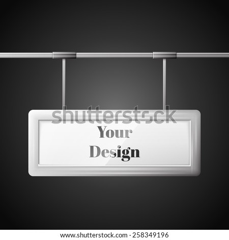 Blank billboard ready for new advertisement, excellent vector illustration, EPS 10 - stock vector