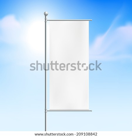blank billboard, road sign with clear sky - stock vector