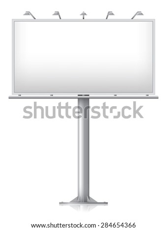 Blank billboard, vector illustration - eps 10