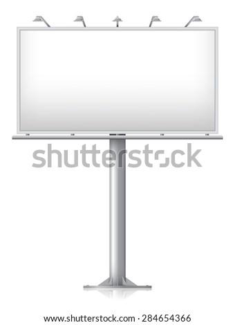Blank billboard, vector illustration - eps 10 - stock vector
