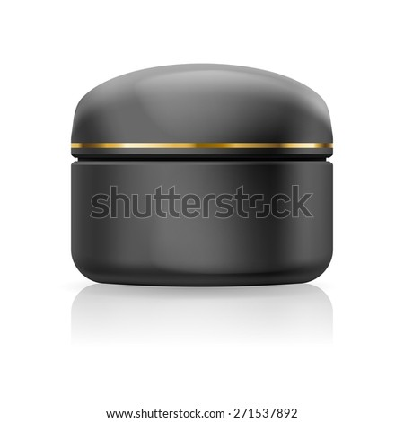 Blank black cream isolated on  white background - stock vector