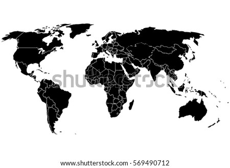 Blank black like world map on vectores en stock 569490712 shutterstock blank black like a world map on a white background monochrome world map vector template gumiabroncs Gallery