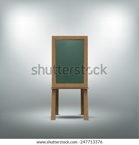 Blank blackboard.Vector illustration eps10 - stock vector
