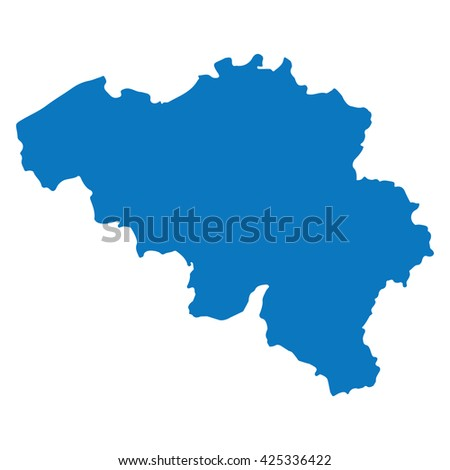 Blank Blue Similar Sweden Map Isolated Stock Vector - Sweden map template