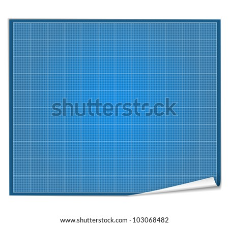 Blank blueprint paper - stock vector
