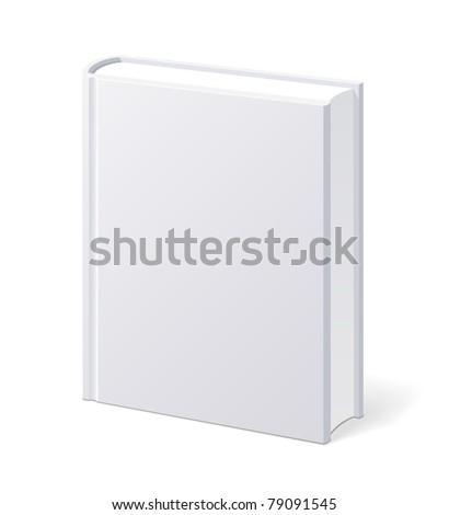 Blank book - stock vector