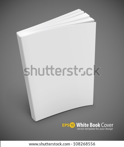 blank book cover vector illustration gradient mesh used EPS10. Transparent objects used for shadows and lights drawing. - stock vector