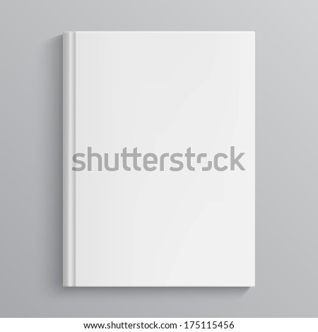 Blank book cover vector illustration. Isolated object - stock vector