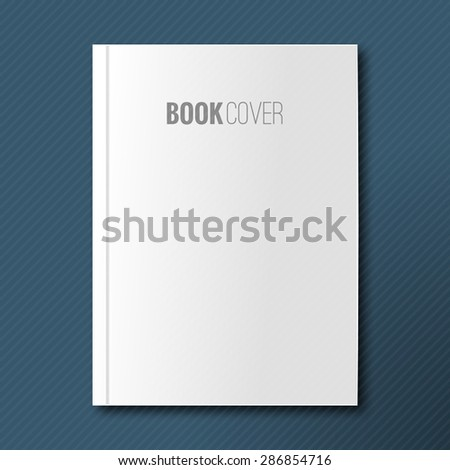Blank book cover vector illustration. Isolated object for design and branding  - stock vector