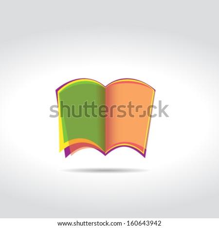 Blank book icon - stock vector