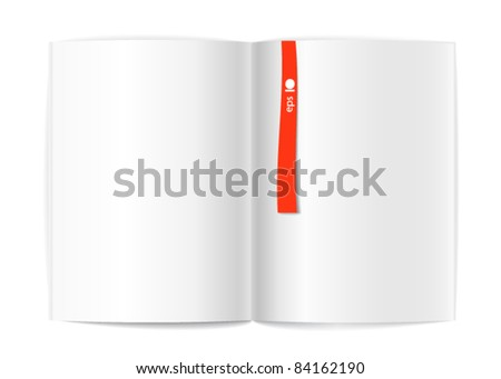 Magazine Blank Page Template Design Layout Stock Vector