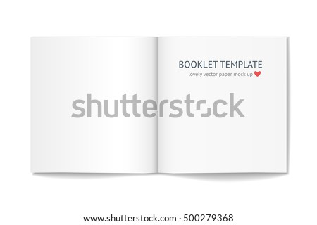 Blank Booklet Shadow Isolated On White Stock Photo (Photo, Vector ...