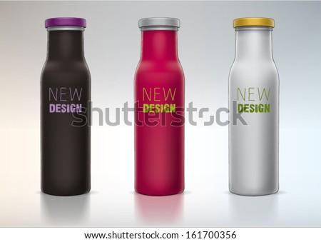 blank bottle for presentation new design - stock vector