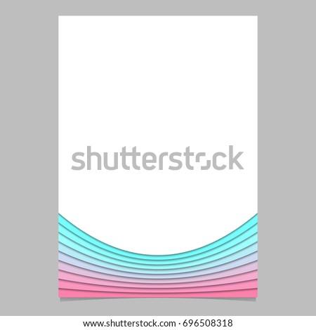 Blank Brochure Template Design Curves Vector Stock Vector 696508318