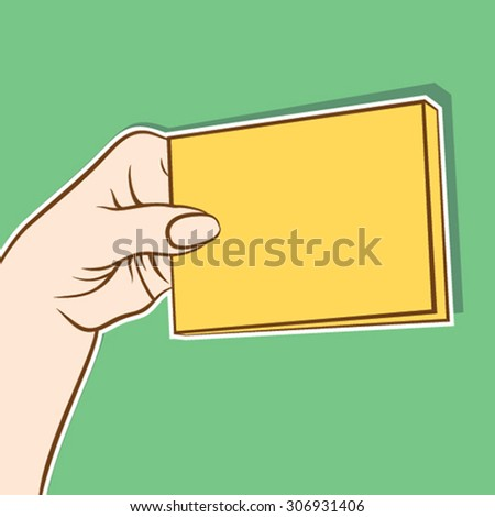 blank bunch of card hold in hand design vector - stock vector