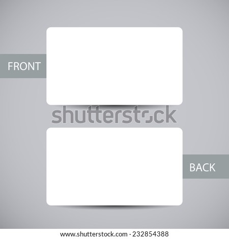 Blank Business Card Template Round Corners Stock Vector - Business card sheet template