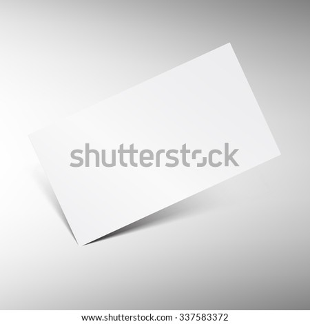 Blank business card vector template. Isolated white paper business card with shadow. Best for presentation.