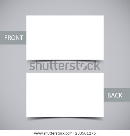 Blank business card shadow template vector stock vector hd royalty blank business card with shadow template vector illustration accmission Images