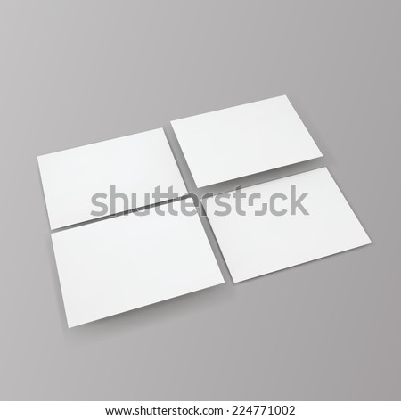 Blank business cards. Promotion of company brand. Vector illustration EPS10. - stock vector