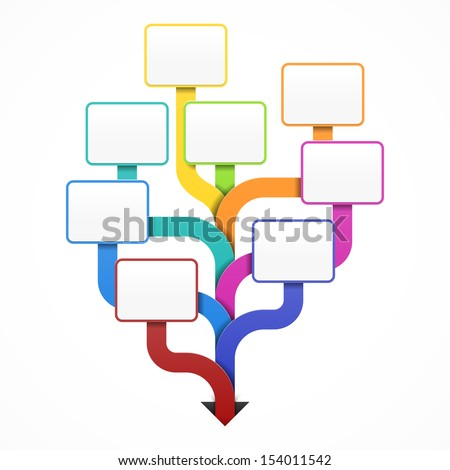 Blank business tree template for design, infographics or presentation. Vector. - stock vector