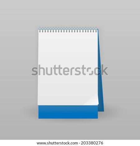 Blank calendar, vector illustration - stock vector