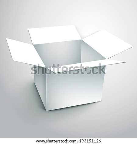 blank carton with soft shadow isolated on white background - stock vector