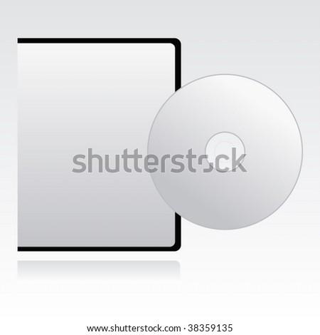 blank case cd on white. Vector - stock vector