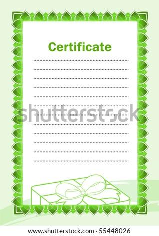Blank Certificate - stock vector