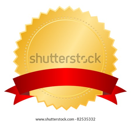 Blank certificate with ribbon, vector illustration - stock vector