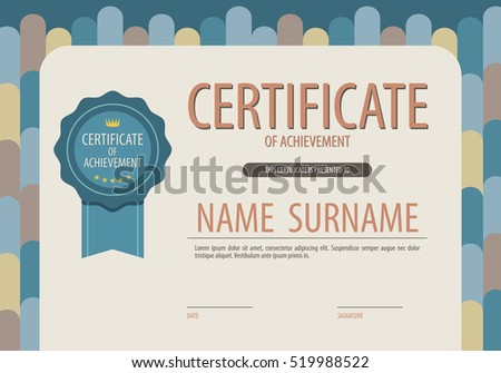 Blank Certified Border Template Vector Illustration